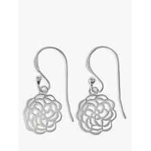 Buy Nina B Sterling Silver Open Rose Drop Earrings Online at johnlewis.com