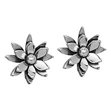 Buy Linda Macdonald Lily Pond Sterling Silver Stud Earrings Online at johnlewis.com