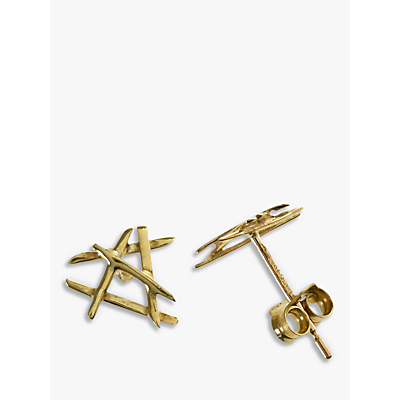 Nina B 9ct Yellow Gold Cross Bars Stud Earrings