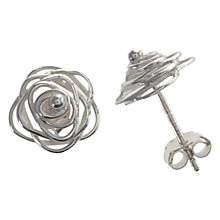Buy Nina B Sterling Silver Open Rose Stud Earrings Online at johnlewis.com