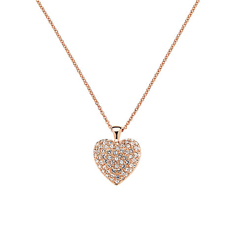 Buy Finesse Rose Gold Crystal Heart Necklace Online at johnlewis.com