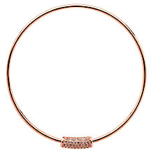 Buy Finesse Crystal Curve Bangle, Rose Gold Online at johnlewis.com