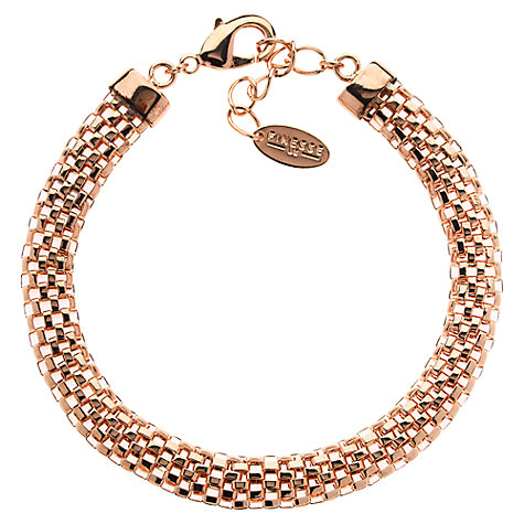 Buy Finesse Rose Gold Plated Mesh Bracelet Online at johnlewis.com
