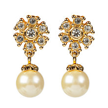 Buy Susan Caplan Vintage Bridal 1990s Christian Dior Faux Pearl Flower Earrings Online at johnlewis.com
