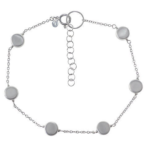 Buy Nina B Sterling Silver Disc Chain Bracelet Online at johnlewis.com