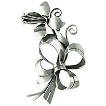 Buy Sharon Mills Flower Bow Brooch, Silver Online at johnlewis.com