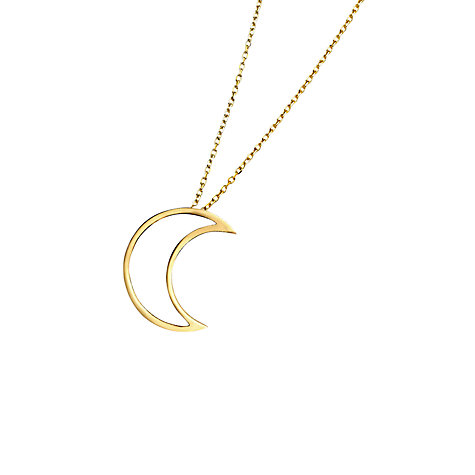 Buy London Road Portobello Starry Night 9ct Gold Open Moon Pendant Online at johnlewis.com