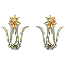 Buy Sharon Mills Silver Gilt Flower Earrings, Silver / Gold Online at johnlewis.com