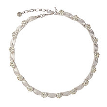 Buy Susan Caplan Vintage Bridal 1960s Trifari Silver Ribbon and Diamante Necklace Online at johnlewis.com