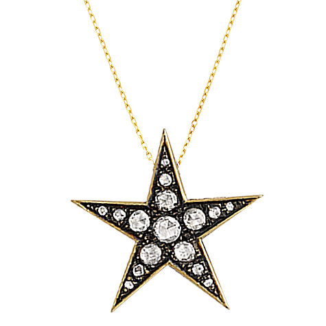 Buy London Road Portobello Starry Night 9ct Gold Large Diamond Star Pendant Online at johnlewis.com
