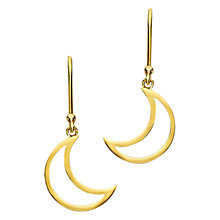 Buy London Road Portobello Starry Night 9ct Gold Moon Drop Earrings Online at johnlewis.com