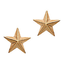 Buy London Road 9ct Rose Gold Portobello Starry Night 3D Star Stud Earrings, Rose Gold Online at johnlewis.com