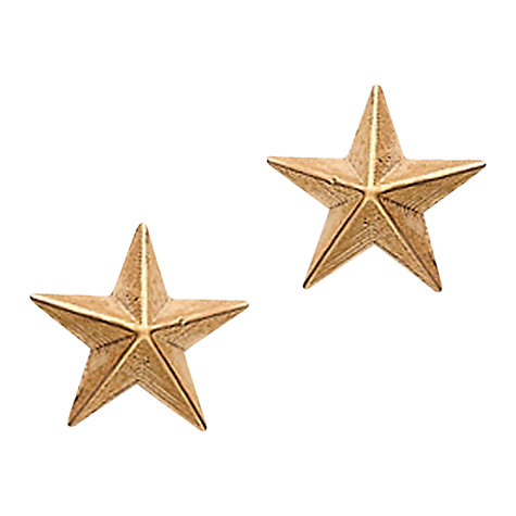 Buy London Road Portobello Starry Night 9ct Rose Gold 3D Star Earrings Online at johnlewis.com