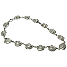 Buy Sharon Mills 1950s Danecraft Sterling Silver Leaves Link Necklace Online at johnlewis.com