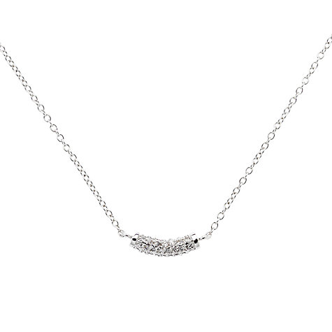Buy Finesse Crystal Curve Necklace, Rhodium Plated Online at johnlewis.com