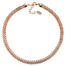 Buy Finesse Rose Gold Plated Mesh Collar Online at johnlewis.com