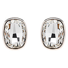 Buy Finesse Swarovski Crystal Large Clip-On Earrings, Silver Online at johnlewis.com