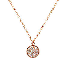 Buy Finesse Round Crystal Pendant, Rose Gold Online at johnlewis.com