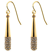 Buy Finesse Crystal Teardrop Hook Earrings, Gold Online at johnlewis.com