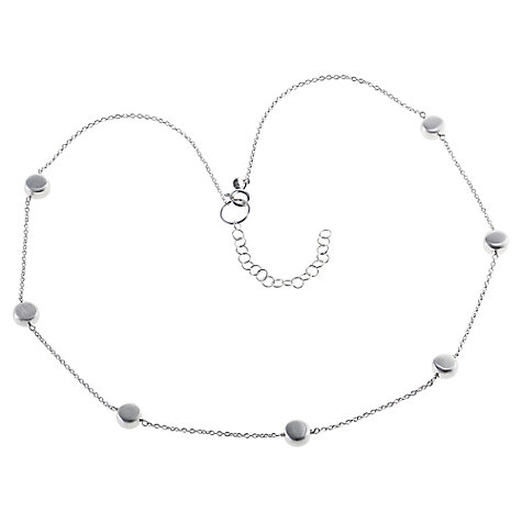 Buy Nina Breddal Sterling Silver Disc Chain Necklace Online at johnlewis.com