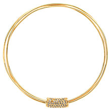 Buy Finesse Gold Plated Crystal Tube Bangle Online at johnlewis.com