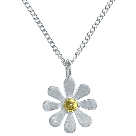 Buy Nina B Sterling Silver and Gold Plated Eight Petal Flower Pendant Online at johnlewis.com