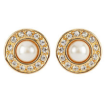 Buy Susan Caplan Vintage Bridal 1990s Christian Dior Faux Pearl Round Earrings Online at johnlewis.com