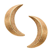 Buy London Road Portobello Starry Night 9ct Rose Gold 3D Moon Earrings Online at johnlewis.com