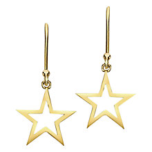 Buy London Road 9ct Gold Portobello Starry Night Star Drop Earrings, Gold Online at johnlewis.com