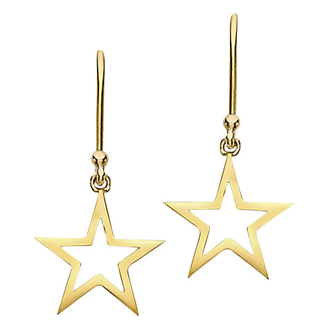 Buy London Road Portobello Starry Night 9ct Gold Star Drop Earrings Online at johnlewis.com