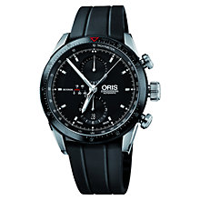 Buy Oris 67476614434 Men's Artix Automatic Chronograph Watch, Black Online at johnlewis.com
