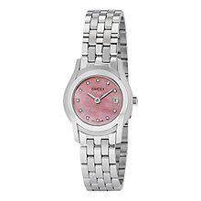 Buy Gucci YA055522 Women's Mother of Pearl Diamond Watch, Pink Online at johnlewis.com