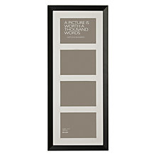 "Buy John Lewis Multi-aperture Gallery Frame, Black, 4 Photo, 5 x 7"" (13 x 18cm) Online at johnlewis.com"