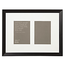 "Buy John Lewis Multi-aperture Gallery Frame, Black, 2 Photo, 5 x 7"" (13 x 18cm) Online at johnlewis.com"