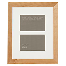 "Buy John Lewis Multi Aperture Frame, Birch, 2 Photo, 4 x 6"" (10 x 15cm) Online at johnlewis.com"