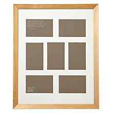 "Buy John Lewis Multi-aperture Gallery Frame, Birch, 7 Photo, 4 x 6"" (10 x 15cm) Online at johnlewis.com"