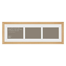"Buy John Lewis Multi-aperture Gallery Frame, Birch, 3 Photo, 5 x 7"" (13 x 18cm) Online at johnlewis.com"