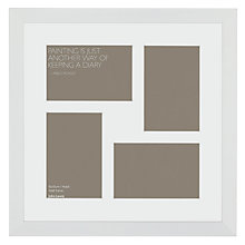 "Buy John Lewis Multi-aperture Gallery Frame, White, 4 Photo, 4 x 6"" (10 x 15cm) Online at johnlewis.com"