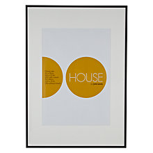 Buy House by John Lewis Photo Frame, Matt Black, A1 with A2 Mount Online at johnlewis.com