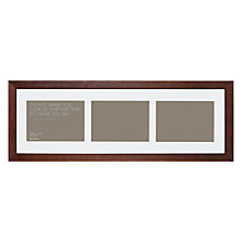 "Buy John Lewis Multi-aperture Gallery Frame, Chocolate, 3 Photo, 5 x 7"" (13 x 18cm) Online at johnlewis.com"