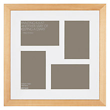 "Buy John Lewis Multi-aperture Gallery Frame, Birch, 4 Photo, 4 x 6"" (10 x 15cm) Online at johnlewis.com"
