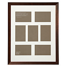 "Buy John Lewis Multi-aperture Gallery Frame, Chocolate, 7 Photo, 4 x 6"" (10 x 15cm) Online at johnlewis.com"