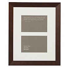 "Buy John Lewis Multi-aperture Gallery Frame, Chocolate, 2 Photo, 4 x 6"" (10 x 15cm) Online at johnlewis.com"