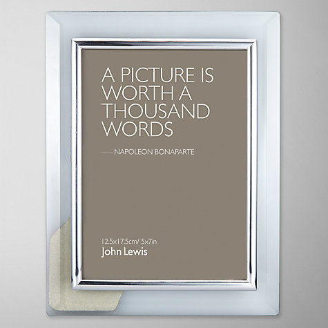 "Buy John Lewis Glass Metal Border Photo Frame, 5 x 7"" (13 x 18cm) Online at johnlewis.com"