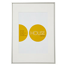 Buy House by John Lewis Photo Frame, Frosted Silver, A2 with A3 Mount Online at johnlewis.com