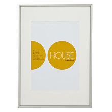Buy House by John Lewis Photo Frame, Frosted Silver, A3 with A4 Mount Online at johnlewis.com