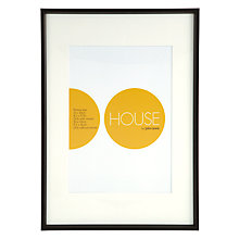 Buy House by John Lewis Photo Frame, Matt Black, A3 with A4 Mount Online at johnlewis.com