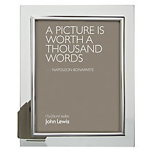 "Buy John Lewis Glass Metal Border Photo Frame, 6 x 8"" (15 x 20cm) Online at johnlewis.com"