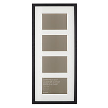 "Buy John Lewis Multi-aperture Frame, 4 Photo, 4 x 6"" (10 x 15cm), Black Online at johnlewis.com"
