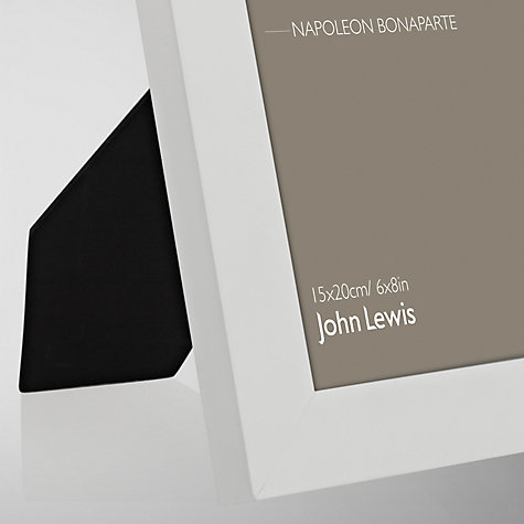 "Buy John Lewis Poplar Photo Frame, White, 6 x 8"" (15 x 20cm) Online at johnlewis.com"